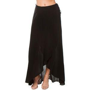 3/30 Love  Stitch Women's Tulip Wrap Maxi Skirt S